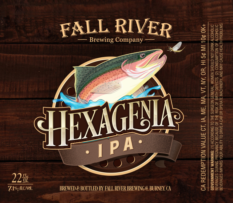 Fall River Brewing Beer Label